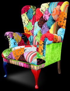 Patchwork Wing Back Chair From Ginny Avison Designs Ltd